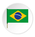national flag of brazil icon circle vector image vector image