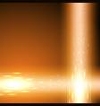 orange background with stream of binary code vector image vector image