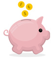 Piggy bank vector image vector image