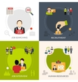 Recruitment Flat Set vector image vector image