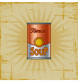 Retro Tomato Soup Can vector image