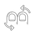 rotate line icon vector image