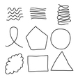 Scribble Shapes vector image