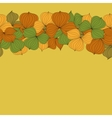 seamless doodle border frame autumn leaves vector image vector image