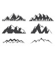 set mountains icons isolated on white vector image