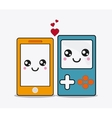 smartphone cartooon icon Kawaii and technology vector image vector image