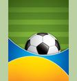soccer ball brochure vector image vector image