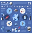 Space Colored Infographic vector image vector image