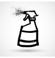 Spray cleaning grunge icon vector image