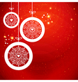 Stylized Christmas balls with snowflakes vector image vector image