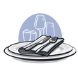 table setting vector image vector image