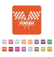 The race flag icon Finish symbol Flat