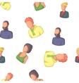 Types of avatar pattern cartoon style vector image vector image