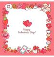 valentine card frame vector image vector image