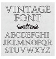 Vintage letters with flourishes Vintage font in vector image vector image