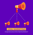 viral marketing for concept design business vector image vector image