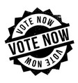 vote now rubber stamp vector image vector image