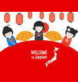 welcome to japan poster design with vector image vector image