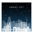 winter night in kansas city night city vector image vector image