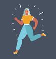 woman running away vector image vector image