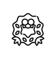 wreath icon vector image vector image