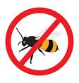 Warning sign bee vector image