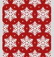 snowflakes christmas seamless pattern vector image