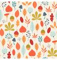 Autumn colors pattern vector image