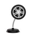 Wheel souvenir vector image
