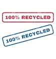 100 Percent Recycled Rubber Stamps vector image
