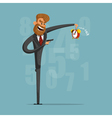 A businessman or manager of killing time with a vector image vector image