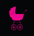 baby carriage pink vector image