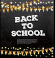 back to school template with neon garlands and vector image vector image