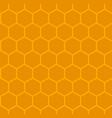 background of honeycomb orange vector image vector image