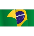 Background with waving Brazilian Flag vector image vector image