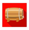 Barrel of wine icon in flat style isolated on vector image vector image