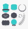 beautiful set of wedding decoration elements vector image