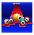 Bingo Balls over 3D stripes vector image vector image