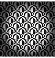 Black and white geometric background vector image