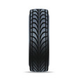 black rubber tire icon vector image vector image