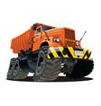 cartoon dump truck 6x6 vector image vector image