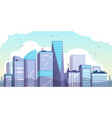 cartoon morning city urban landscape vector image vector image
