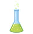 Chemical in glass beaker vector image vector image