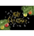 Christmas black poster or card with calligraphy vector image