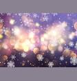 christmas snowflakes and bokeh lights vector image vector image