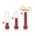 clipart of goal thermometers at different levels vector image