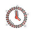 clock countdown icon in comic style time vector image vector image