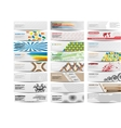 COLORFUL BANNER SET OF TWENTY-FOUR SET 4 vector image