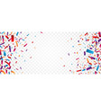 colorful confetti celebration banner design vector image vector image