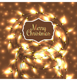 Colorful Glowing Christmas Lights elements can be vector image vector image